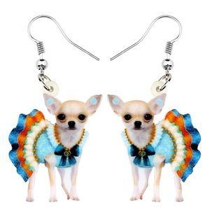 Chihuahua in a Dress Acrylic Earrings
